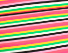 Jersey -  Bunte Streifen - Schwarz/Rosa/Weiß