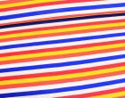 Jersey -  Bunte Streifen - Blau/Rot/Weiß