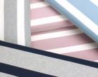 Jersey - Breite Streifen - Zweifarbig - Grau meliert/Naturweiß