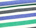Fashionstoff - Breite Streifen - Mehrfarbig - Meliert - Blau/Grün