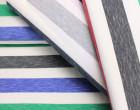 Fashionstoff - Breite Streifen - Mehrfarbig - Meliert - Blau/Grau