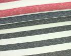 Fashionstoff - Breite Streifen - Einfarbig - Meliert - Rot/Weiß