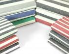 Fashionstoff - Schmale Streifen - Meliert - Nachtblau/Weiß