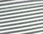 Fashionstoff - Schmale Streifen - Meliert - Schwarz/Weiß