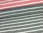 Fashionstoff - Mittlere Streifen - Meliert - Nachtblau/Weiß