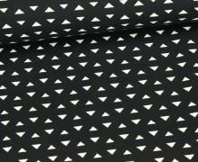 Jersey - Kleine Dreiecke - Schwarz
