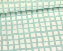 Stoff - Geometrie - Kleine - Quadrate - Mintgrün