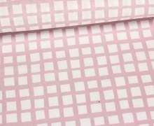Stoff - Geometrie - Kleine - Quadrate - Altrosa