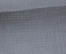 Musselin - Muslin - Double Gauze - Uni - Blaugrau
