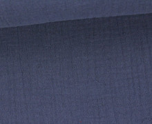 Musselin – Muslin – Double Gauze – Uni – Blaulila