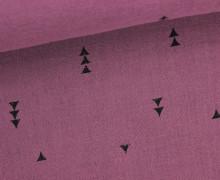 Musselin - Muslin - Dreiecke - Vintage - Double Gauze - Altrosa Dunkel