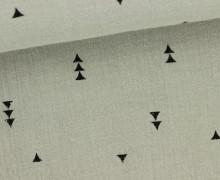 Musselin - Muslin - Dreiecke - Vintage - Double Gauze - Sand
