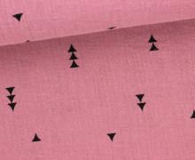 Musselin - Muslin - Dreiecke - Vintage - Double Gauze - Pastellpink