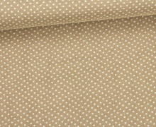 Javanaise - Blusenstoff - Punkte - 1mm -  Sand