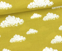 Stoff - Wolken - Clouds - Senfgelb