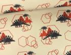 Softshell - Fleece - Dinosaurier - Grafik - Sand