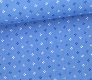 Stoff - Kleine Quadrate - Small Squares - Pastellblau