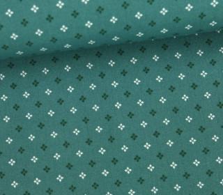Stoff - Kleine Quadrate - Small Squares - Meeresgrün