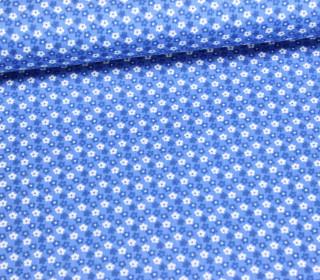 Stoff - Blume an Blume - Flowers - Pastellblau