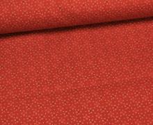 Stoff - Pünktchen - Blümchen - Rot
