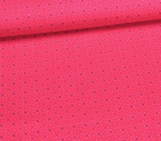 Stoff - Pünktchen - Blümchen - Pink