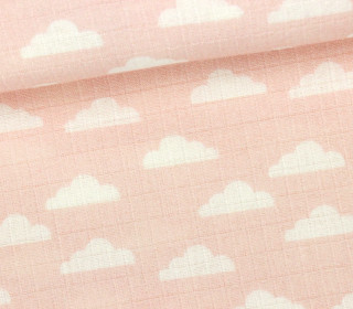 Musselin Charly - Wolken - Clouds - Apricot