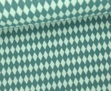 Jersey - Grafisch - Kleine Rauten - Türkisgrün/Mintgrün