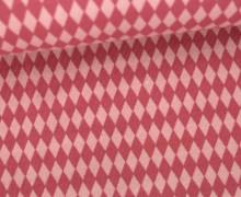 Jersey - Grafisch - Kleine Rauten - Pastellpink/Altrosa