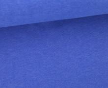 Glattes Bündchen - Uni - Schlauch - Blau Meliert