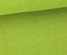 Glattes Bündchen - Uni - Schlauch - Grün Meliert