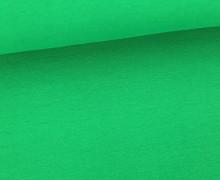 Glattes Bündchen - Uni - GOTS - Schlauch - Blattgrün