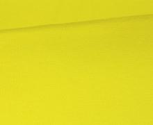 Glattes Bündchen - Uni - Bio Qualität - Schlauch - Zitronengelb