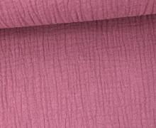Musselin - Muslin - Double Gauze - Uni - Altrosa Dunkel