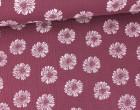 Musselin - Muslin - Blumen - Vintage - Double Gauze - Altrosa Dunkel
