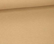 Jersey - Uni - ca. 150cm - Braun