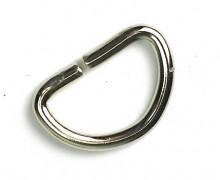 1 D-Ring 30mm - FETT - Halbring - Taschenring - Silber