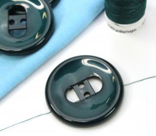 1 Knopf - 33mm - Rund - Rundbogen - Tannengrün