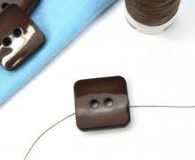 1 Knopf - 18mm - Eckig - Dunkelbraun