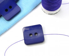1 Knopf - 18mm - Eckig - Blaulila