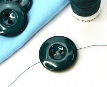 1 Knopf - 22mm - Rund - Vertiefung - Tannengrün
