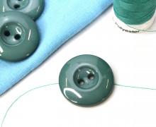 1 Knopf - 22mm - Rund - Vertiefung - Meergrün