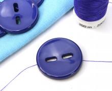 1 Knopf - 25mm - Rund - Muster - Blaulila