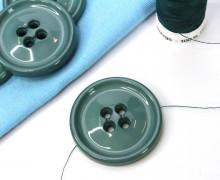 1 Knopf - 33mm - Rund -  4 Löcher - Meergrün
