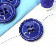 1 Knopf - 33mm - Rund -  4 Löcher - Blaulila
