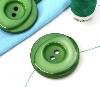 1 Knopf - 33mm - Rund - Stufen - Grün