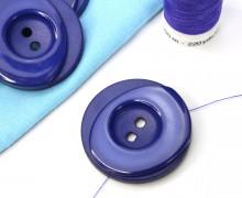 1 Knopf - 33mm - Rund - Stufen - Blaulila