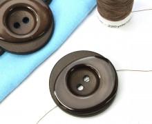 1 Knopf - 33mm - Rund - Stufen - Dunkelbraun