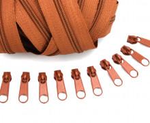 2m Endlosreißverschluss *S*+10 Zipper Mittelbraun (285)