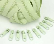 2m Endlosreißverschluss *S*+10 Zipper Lindgrün (244)