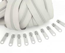 2m Endlosreißverschluss *S*+10 Zipper Hellgrau (310)
